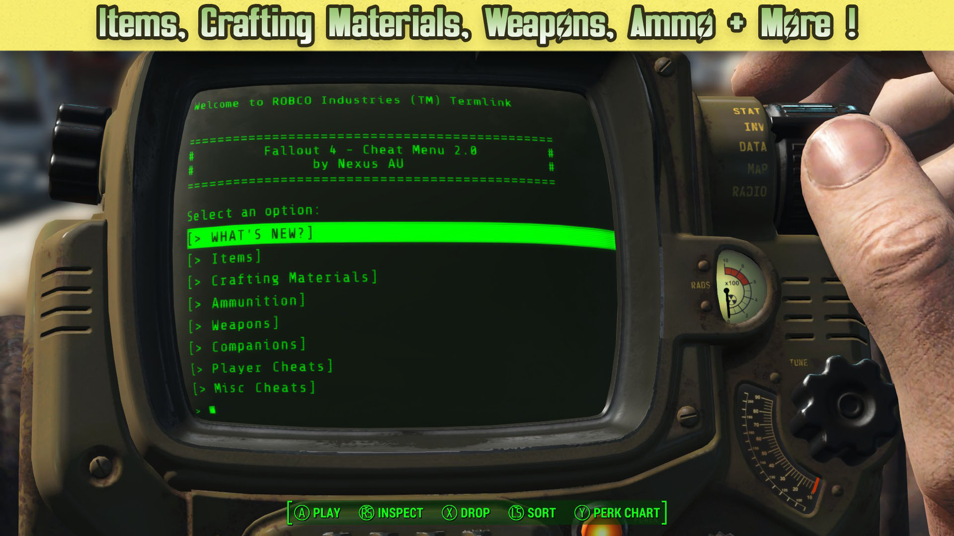 How to cheat terminal 47