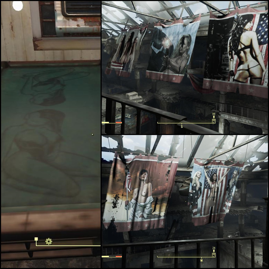 Erotic artwork paintings pipboy tv murals and more for Fallout 4 mural