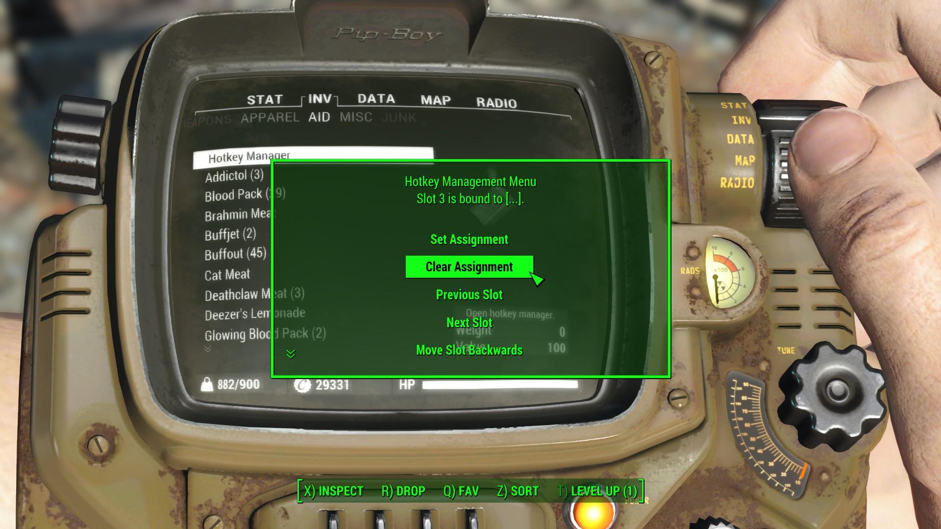 FO4 Hotkeys 日本語化対応 ゲームシステム変更 - Fallout4 Mod