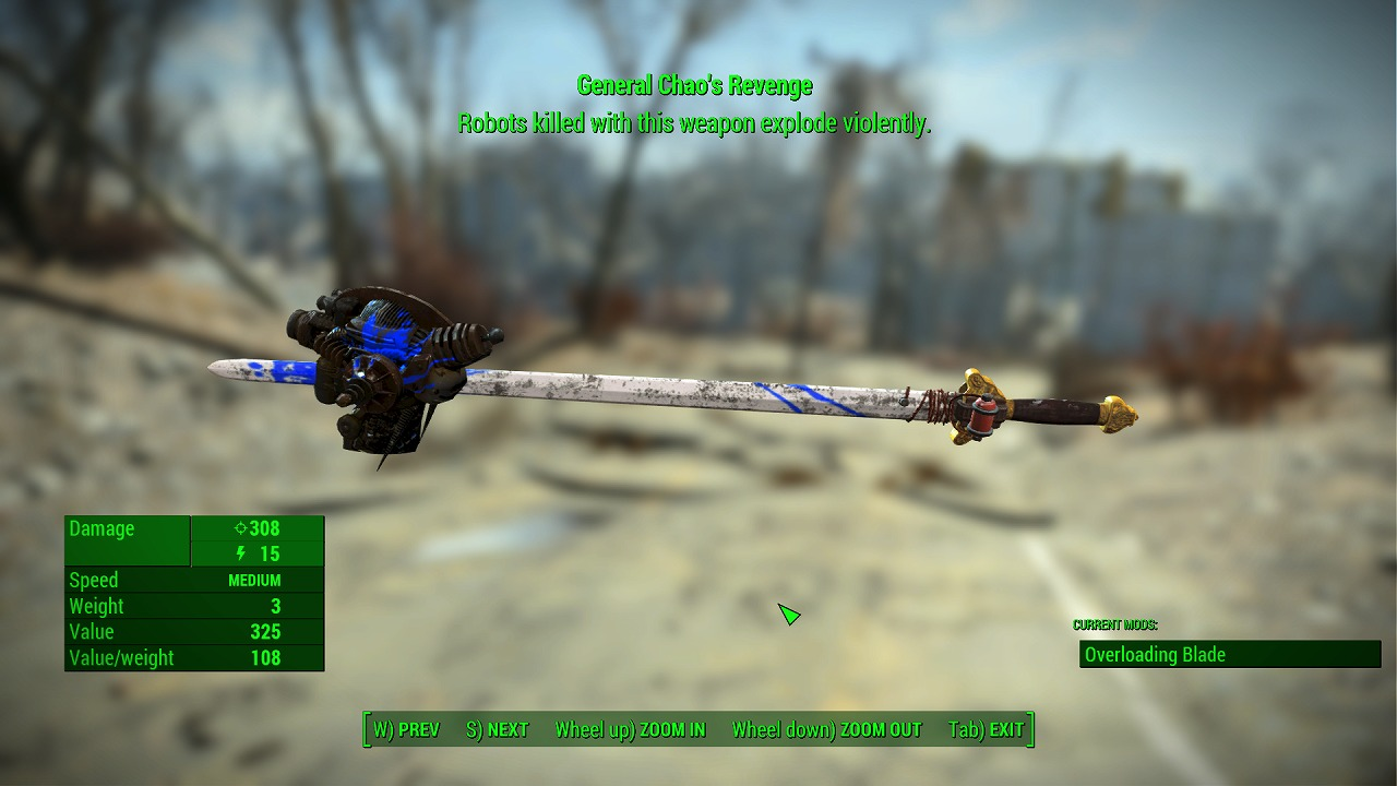 unique weapons redone