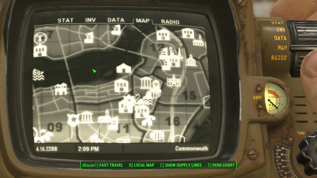 improved region map with visible roads モデル テクスチャ fallout4