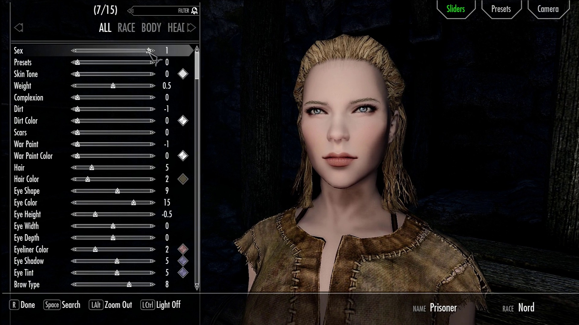 avoid the wait when changing to female in character creation その他